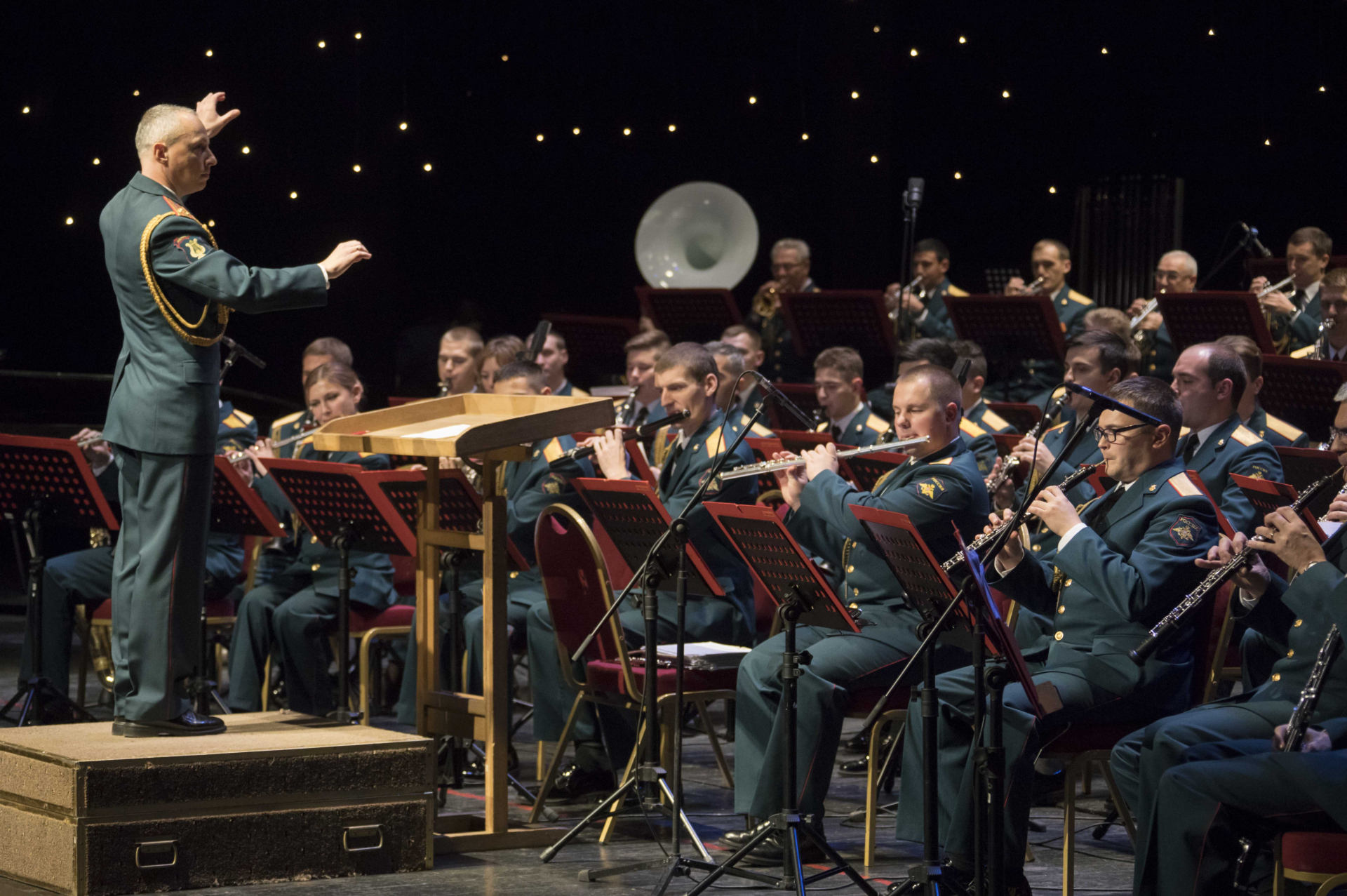 The Central Military Band of Russia Plays a Celebration