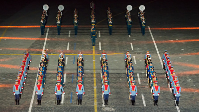 The Band and the Honor Guard of the 154 Preobrazhensky Regiment