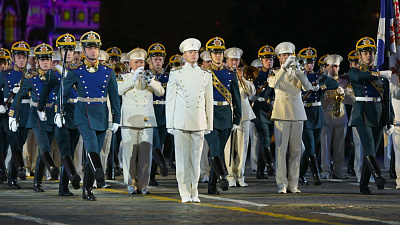The President's Band and the Honor Guard of the Presidential Regiment