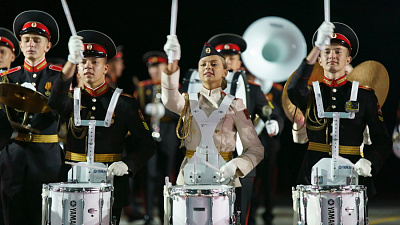 The Band of the Moscow Military Music College and the Girl Drummers Band of the Boarding School for Girls